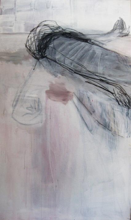 1Sommeil profond 2007 acrylique et fusain sur toile, 162x97cm