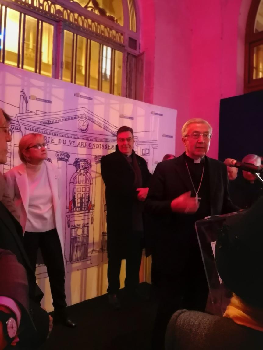 Inauguration de l'exposition «Geneviève 1600» et discours de Madame Florence BERTHOUT, Maire du 5ème arrondissement deParis